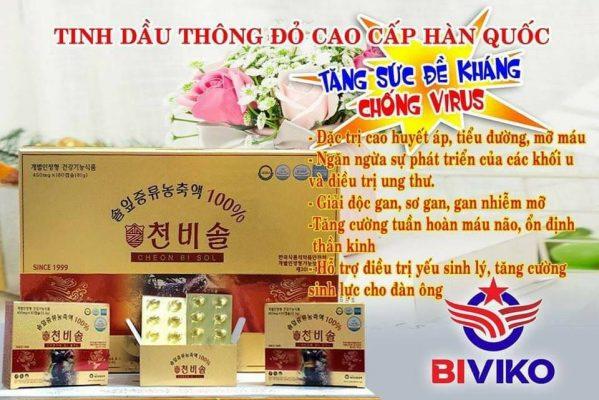 Tinh Dầu Thông Đỏ Cheong Bi Sol Hoàng Gia Hàn Quốc 180 Viên